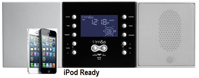 M&S Systems DMC3-4-IP Intercom ipod dock music intercom